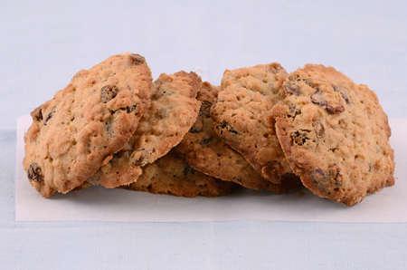Fresh baked oatmeal and raisin cookies