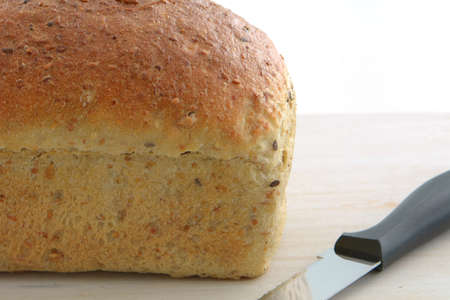 Home made multigrain loaf of bread  in horizontal format Stock Photo