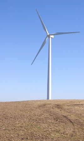 rule of thirds: Vertical picture of a wind mill - rule of thirds.