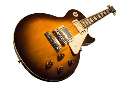 isoliert: Vintagegitarre Stock Photo