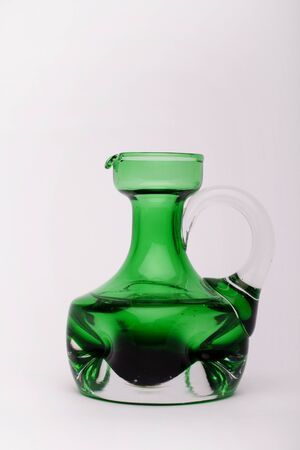 Renaissance wine burl carafe  on the white background, isolated
