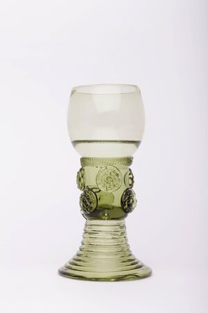 Rummer wine glass  on the white background, isolated Stock fotó