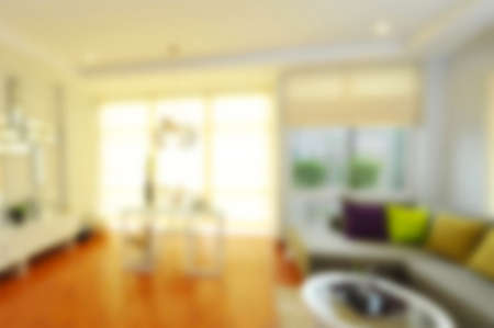 place of living: blur image of interior home Stock Photo