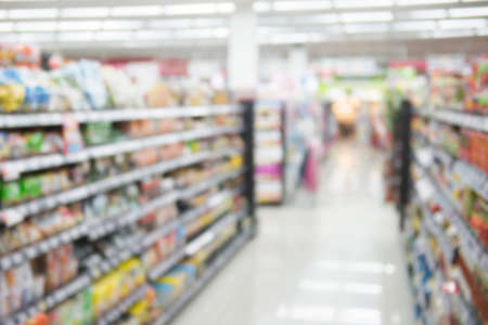 very blur supermarket  for background