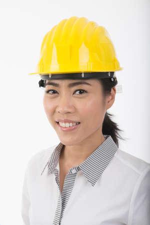 asian architect: asian woman architect Stock Photo