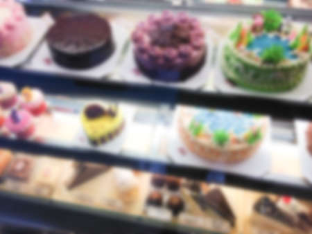 food distribution: blur picture of supermarket Stock Photo