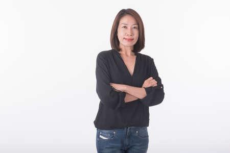 asian middle age woman Фото со стока