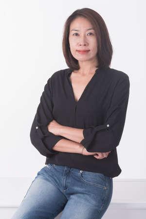 asian middle age woman Archivio Fotografico
