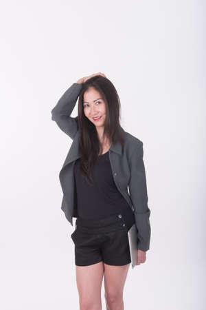 businesswoman standing: asian businesswoman standing Stock Photo