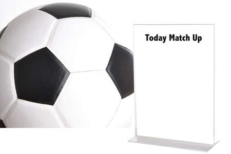 league of nations: blank white sign on football picture background with word today match up