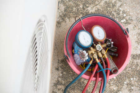 adjuster: datail of Air Conditioning Tinstallation equipment