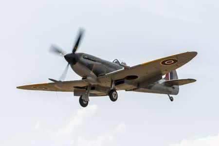 Spitfire fighter plane Stok Fotoğraf