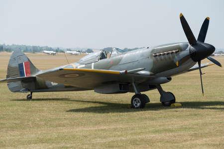 ヴィンテージ第二次世界大戦 Sptifire イギリス戦闘機 写真素材