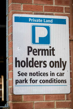 permit: Sign, Permit Holders Only
