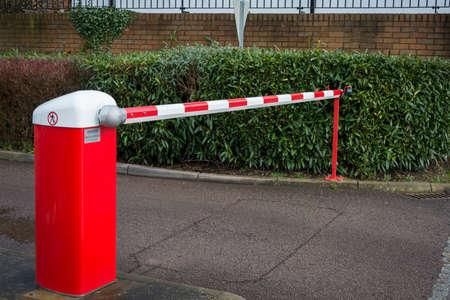 Car park barrier Stok Fotoğraf