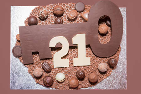 manhood: Home made chocolate 21st Birthday Cake