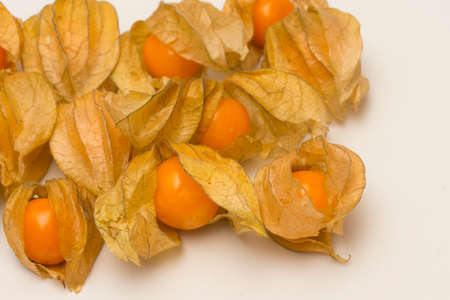 ground cherry: Physalis (ground cherry)  fruits isolated on a white background