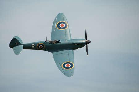 Vinatge World War Two, British Supermarine Spitfire PR XIX in flight