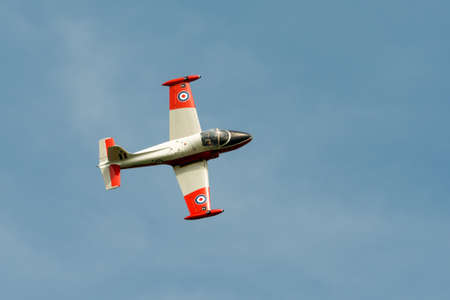 t5: Hunting Jet Provost T5 owned by Swords Aviation  Seen flying at Abingdon Airshow May 2014 Editorial