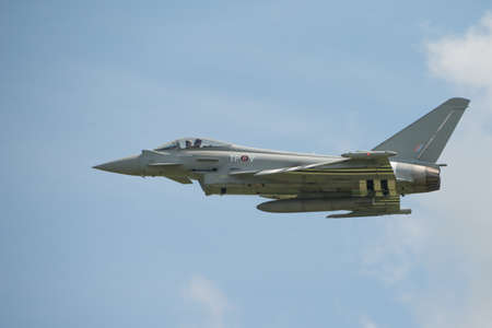 Duxford, UK - 25th May 2014: RAF Typhoon at Duxford Airshow.