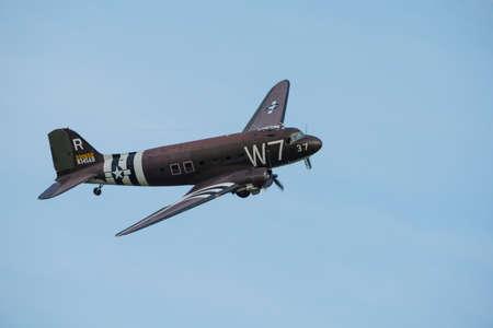 douglas: Duxford, UK - 25th May 2014: Douglas Dakota at Duxford Airshow.