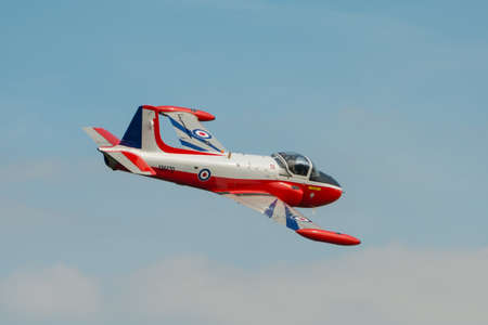 t5: Abingdon, UK - May 4th 2014: A vintage RAF Jet Provost T5 trainer seen at Abingdon Air Show.