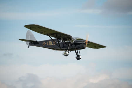 Biggleswade UK - 5th October, 2014: De Havilland DH80a Puss Moth, vintage aircraft at the Shuttleworth Collection airshow