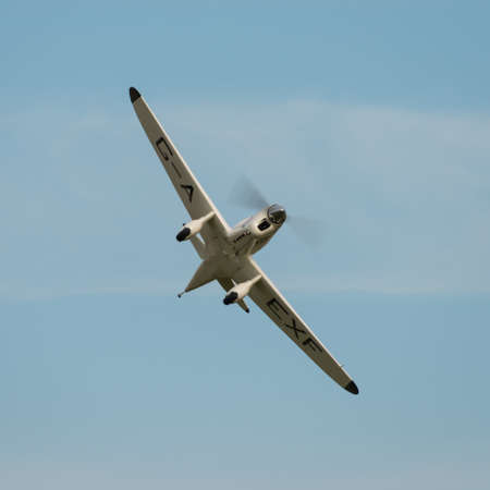 shuttleworth: Biggleswade UK - 5th October, 2014:  Percival Mew Gull, vintage racing aircraft at the Shuttleworth Collection airshow