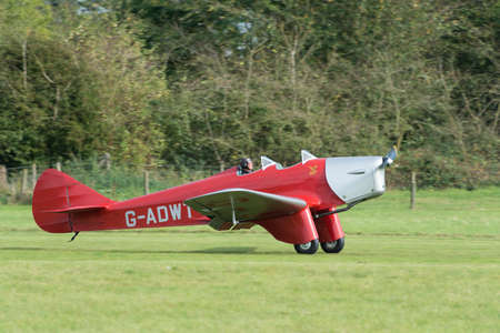 Biggleswade UK - 5th October, 2014: Miles Hawk, vintage aircraft at the Shuttleworth Collection airshow