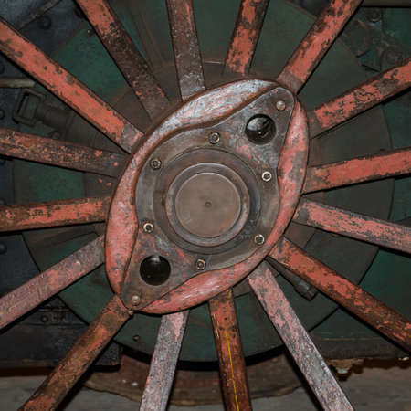 traction: Spokes of traction engine wheel
