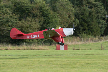 Biggleswade UK - 5th October, 2014: Miles Hawk vintage aircraft at the Shuttleworth Collection airshow