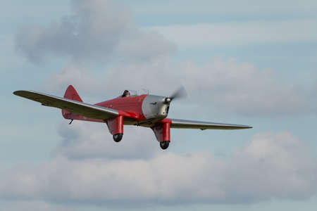 monoplane: Biggleswade UK - 5th October, 2014: Miles Hawk vintage aircraft at the Shuttleworth Collection airshow