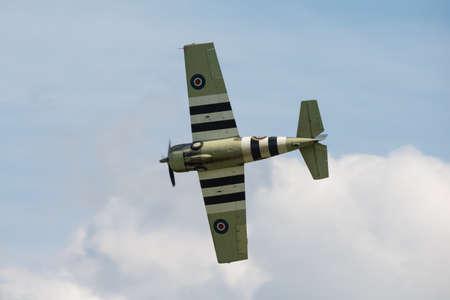 airshow: Duxford,UK - 25 May 2014: Grumman Wildcat at Duxford D-Day Airshow