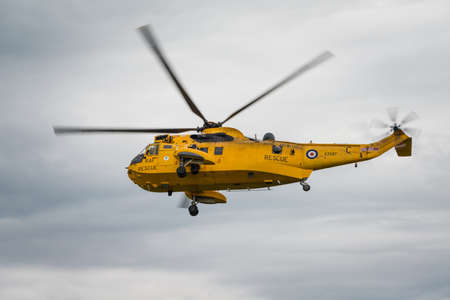 airshow: Cosford, UK - 8 June 2014: RAF Westland Sea King helicopter, displaying at the RAF Cosford Airshow. Editorial