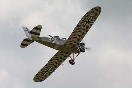 world war 1: Cosford, UK - 08 June 2014: World War 1 vintage German Junkers CL1 aircraft seen at RAF Cosford Airshow. Editorial
