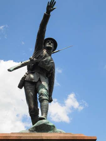 ww1: Statue of WW1 soldier. Castle grounds, Bridgnorth, Shropshire, UK. Editorial