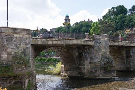 severn: Bridge over the river Severn at Bridgenorth UK. Stock Photo