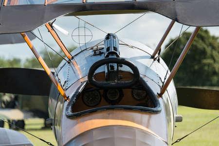 shuttleworth: World War 1 fighter, forward  cockpit view Stock Photo