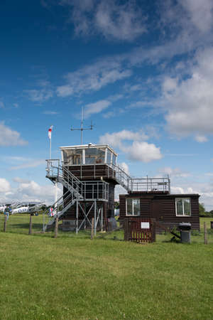 shuttleworth: Biggleswade, UK - 29 June 2014: The control tower at the Shuttleworth Collection air show.