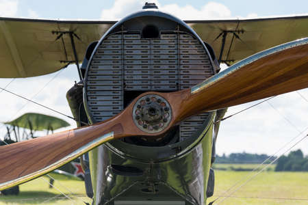 shuttleworth: Biggleswade, UK - 29 June 2014: A vintage Bristol F2B (Brisfit) British fighter on display at the Shuttleworth Collection air show.