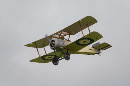 Biggleswade, UK - 29 June 2014: A vintage 1916 Sopwith Pup British fighter on display at the Shuttleworth Collection air show.