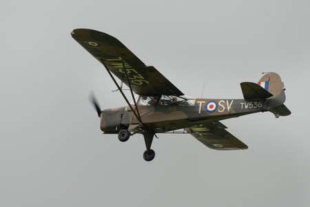shuttleworth: Biggleswade, UK - 29 June 2014: Vintage Auster Mark 5 British aircraft seen at the Shuttleworth Collection air show. Editorial
