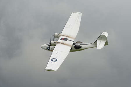 consolidated: Biggleswade, UK - 29 June 2014:  Consolidated Catalina  PBY5A, Miss Pickup at the Shuttleworth Collection air show.