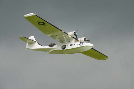 Biggleswade, UK - 29 June 2014:  Consolidated Catalina  PBY5A, Miss Pickup at the Shuttleworth Collection air show.