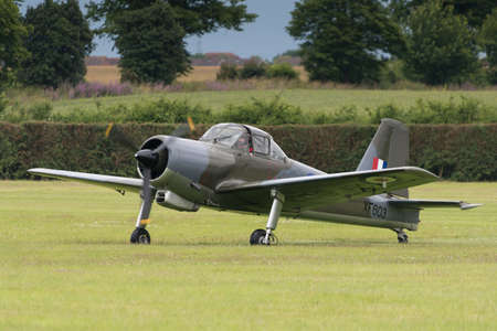 Biggleswade, UK - 29 June 2014: A vintage British Percival Provost T1 on display at the Shuttleworth Collection air show.