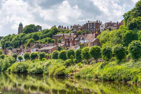 Riverside view of Bridgnorth, Shropshire Britain. Stok Fotoğraf
