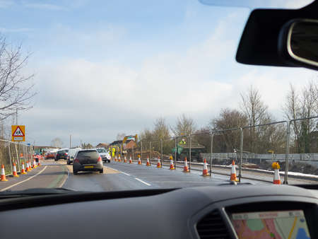 Driving in road works in the UK