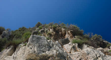 mediteranean: View of the top edge of a cliff in the Mediteranean Stock Photo