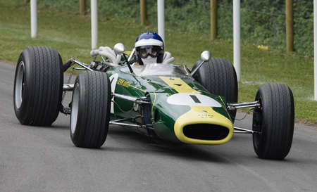 hillclimb: Goodwood, UK -26th June 2015: A vintage 1966 Lotus BRM 43 driven at the Goodwood Festival of Speed. Editorial