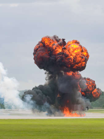 planned: Airfield planned explosion Stock Photo